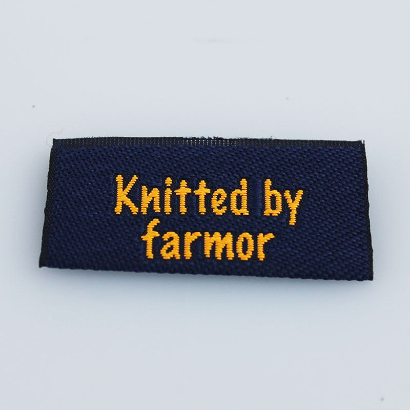 Label - Knitted by farmor