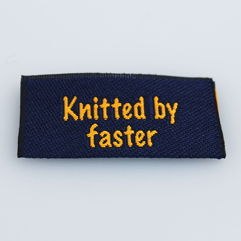 Label - Knitted by faster