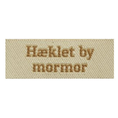 Label - Hæklet by mormor