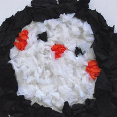 Scrunchy Penguin Paper Plate Craft