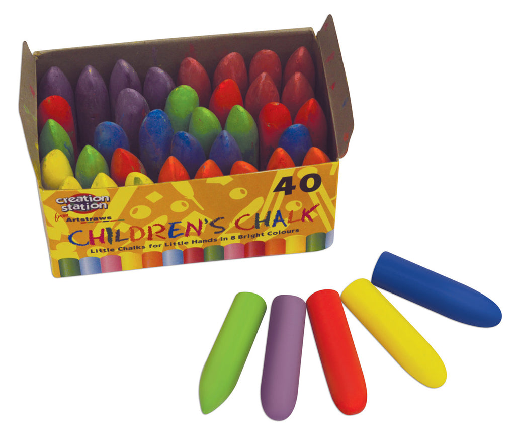 Coloured Chalk Sticks pk 40