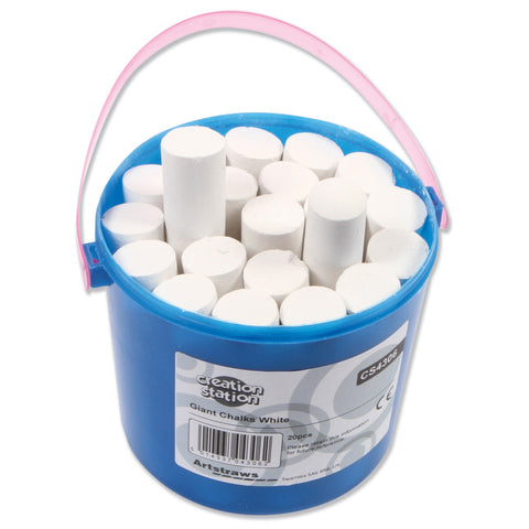 White Giant Chalks Tub pk 20