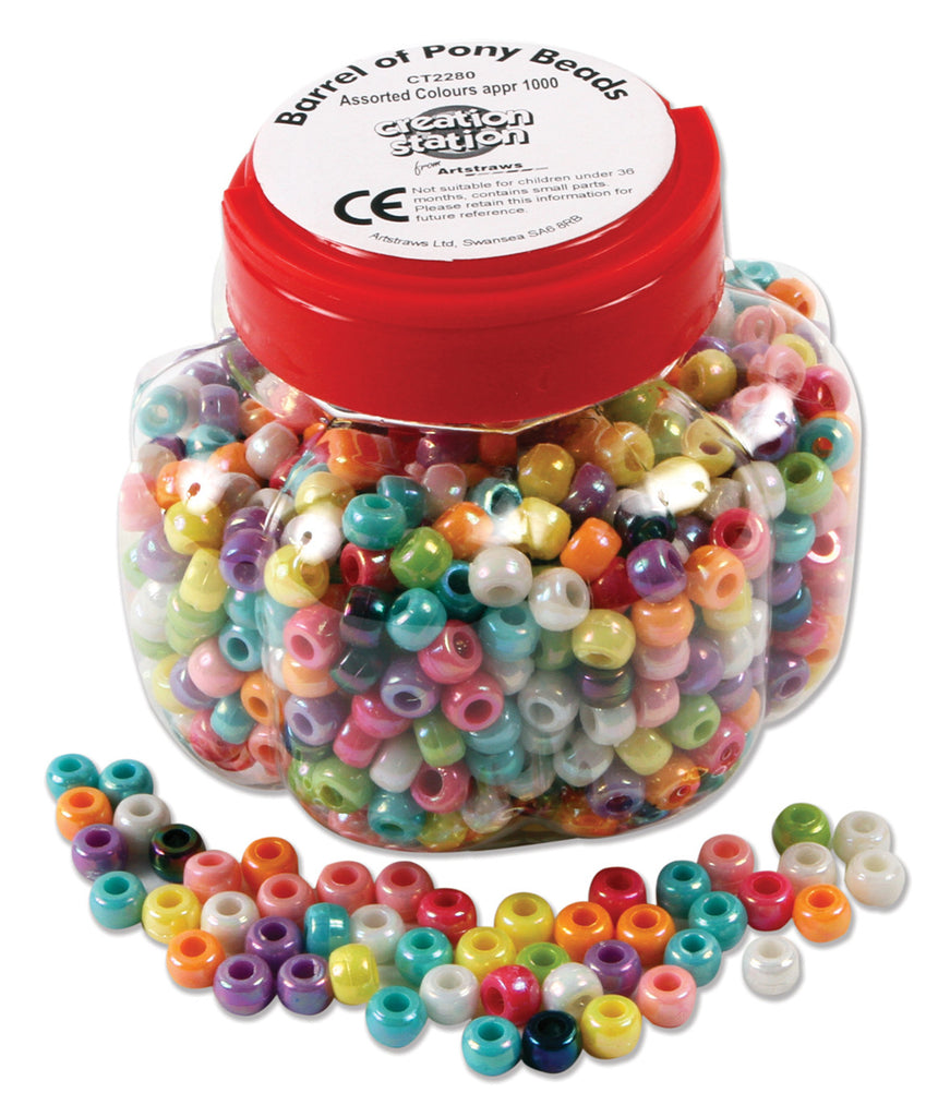 Assorted Pony Beads Tub pk 1000