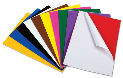 A4 Peel and Stick Craft Foam Sheets pk 10