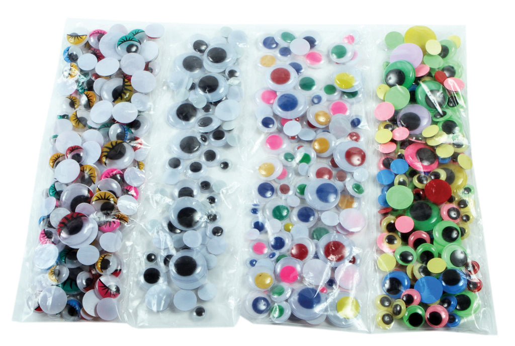 Wiggly Eyes Assortment pk 500