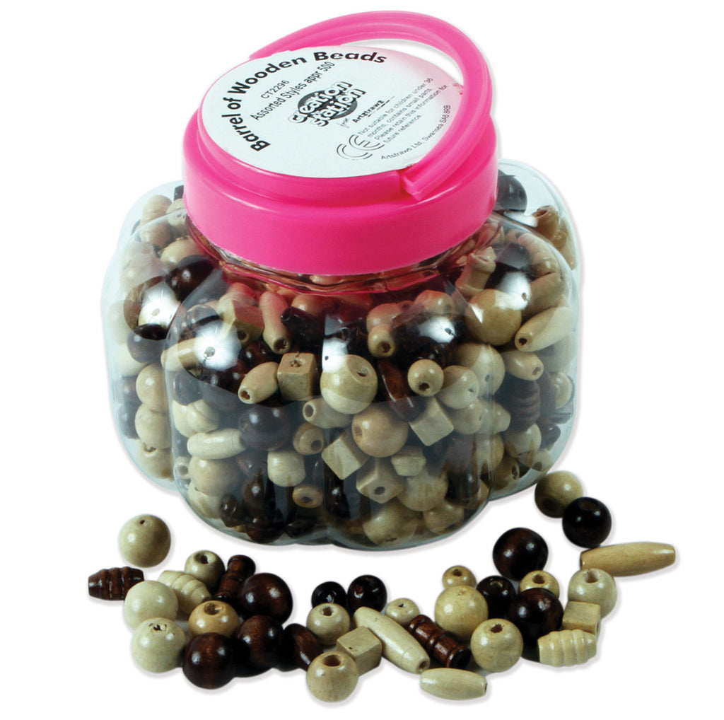 Wooden Beads Tub pk 500
