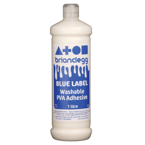 Blue Label Washable PVA Glue 1l