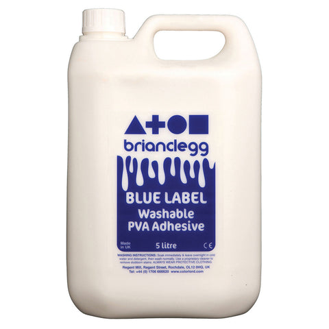Blue Label Washable PVA Glue 5l