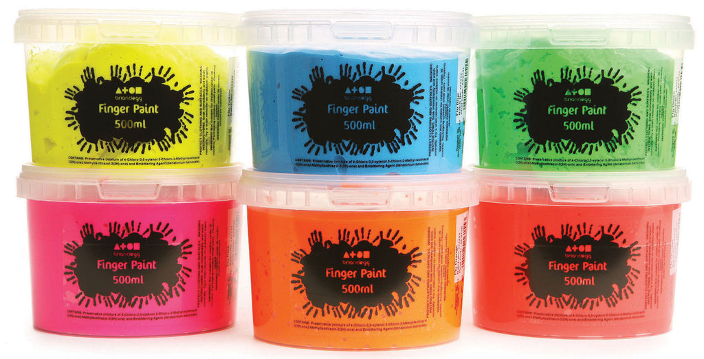 Finger Paint - Fluorescent Colours pk 6