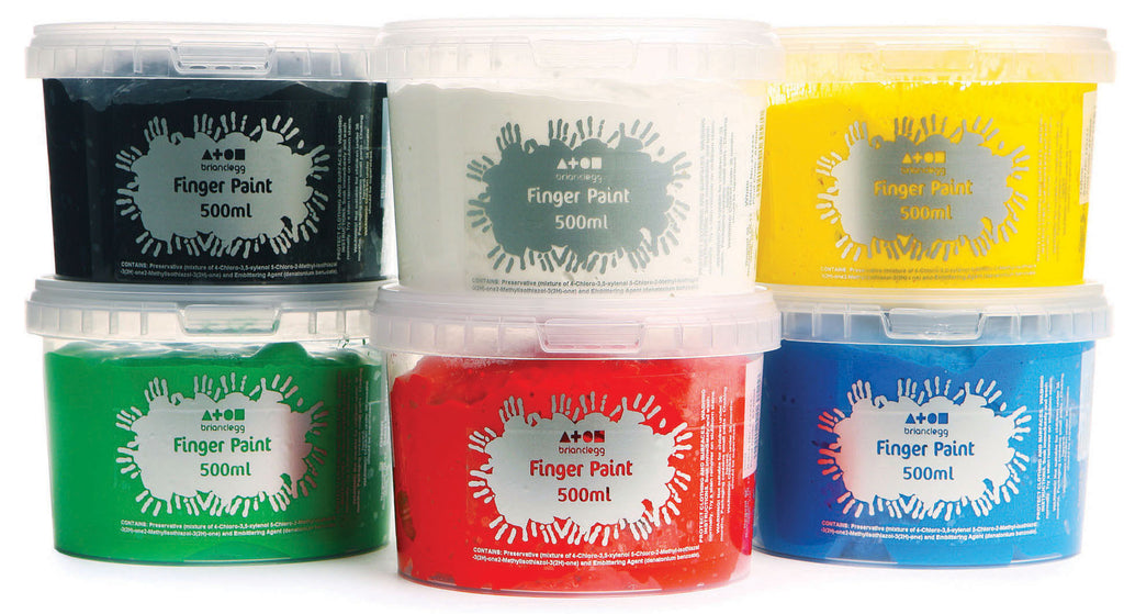 Finger Paint - Rainbow Colours pk 6