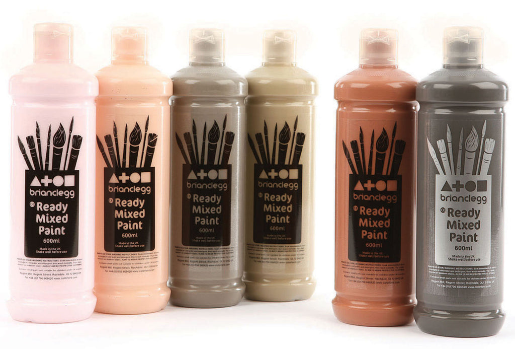 Ready Mixed Paint - Skin Tones pk 6