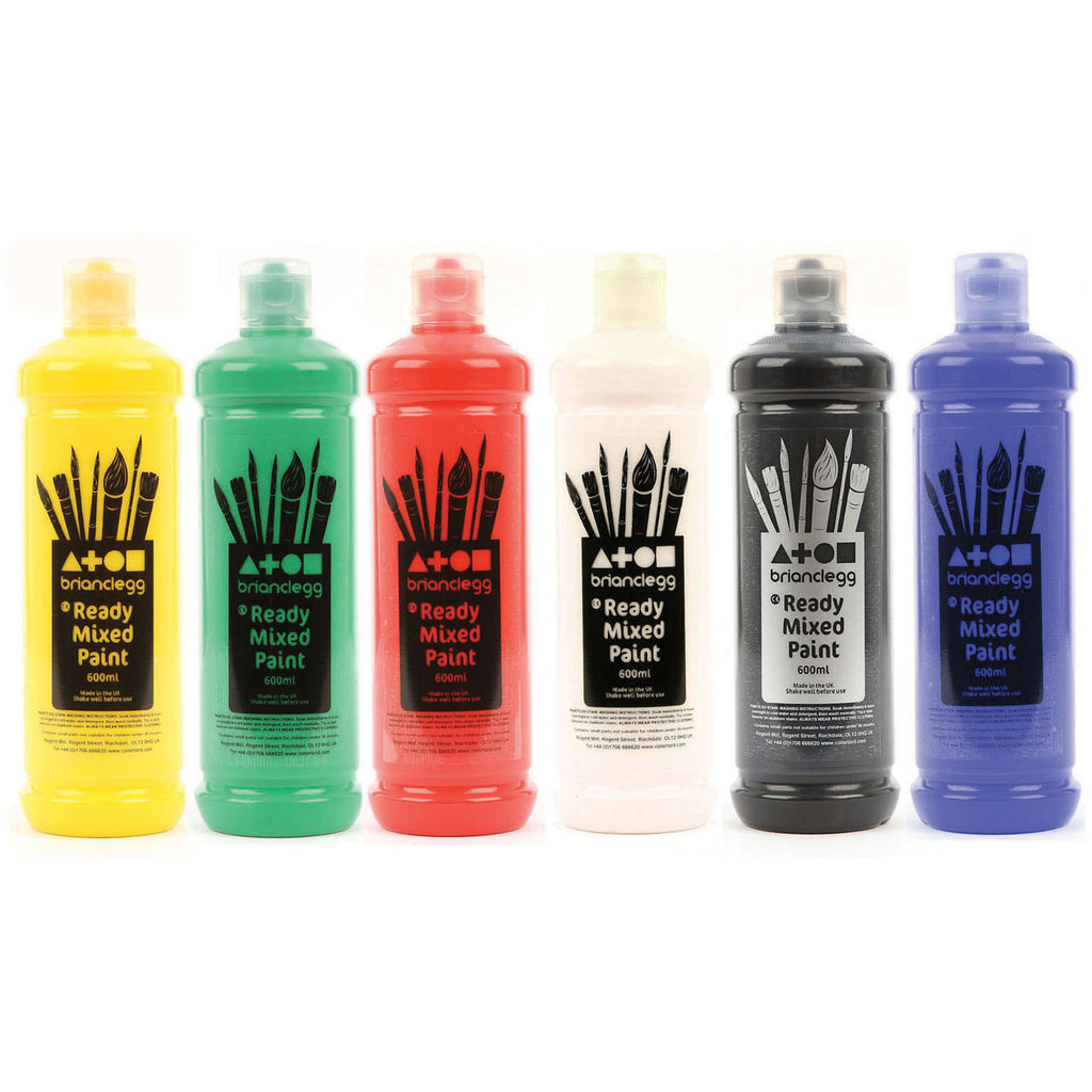Ready Mixed Paint - Rainbow Colours pk 6