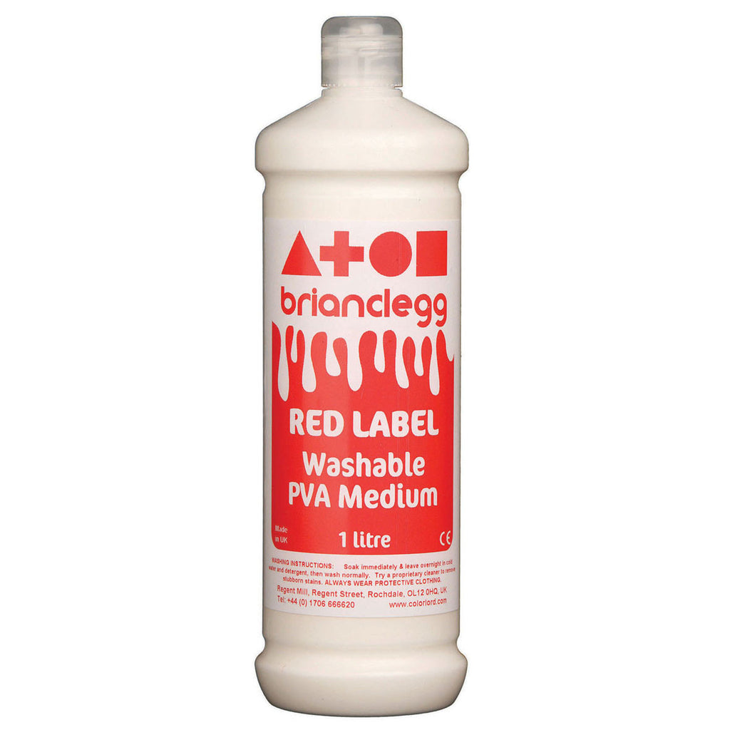 Red Label Washable PVA Glue 1l