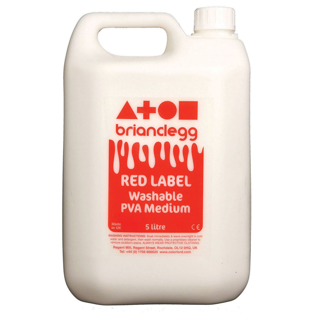 Red Label Washable PVA Glue 5l