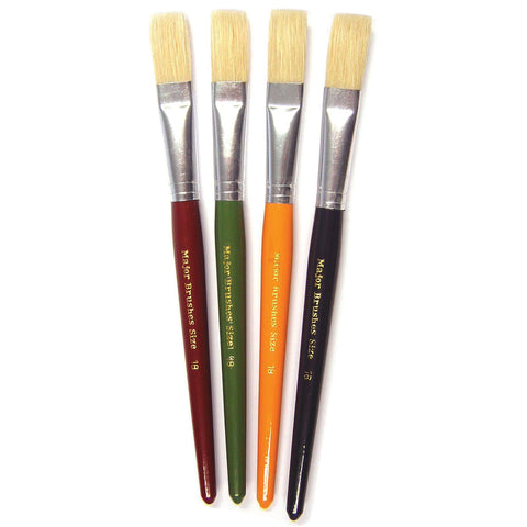 Chunky Paint Brushes - Flat pk 30