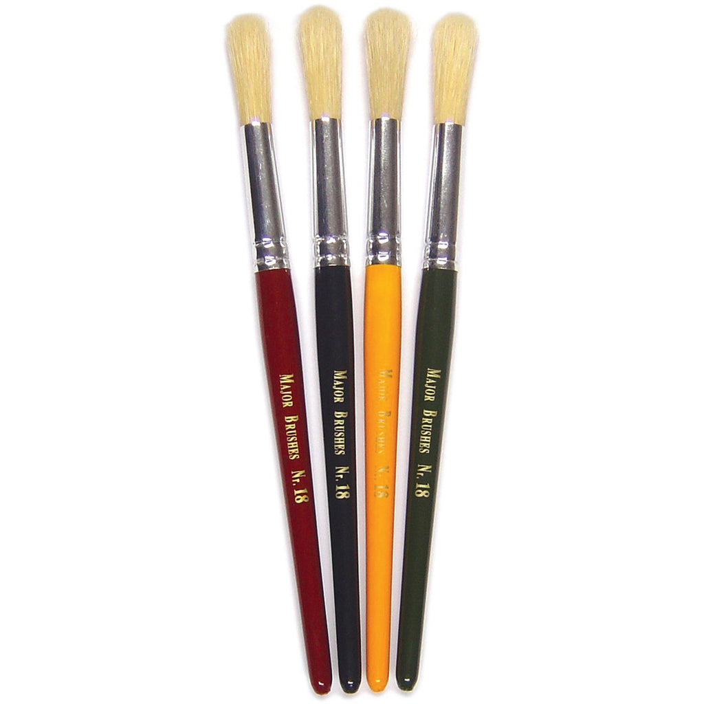 Chunky Paint Brushes - Round pk 30