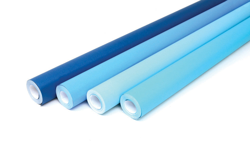Fadeless Roll Assortment - Blues pk 4