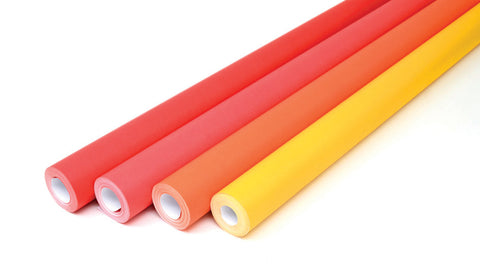 Fadeless Roll Assortment - Red/Orange pk 4