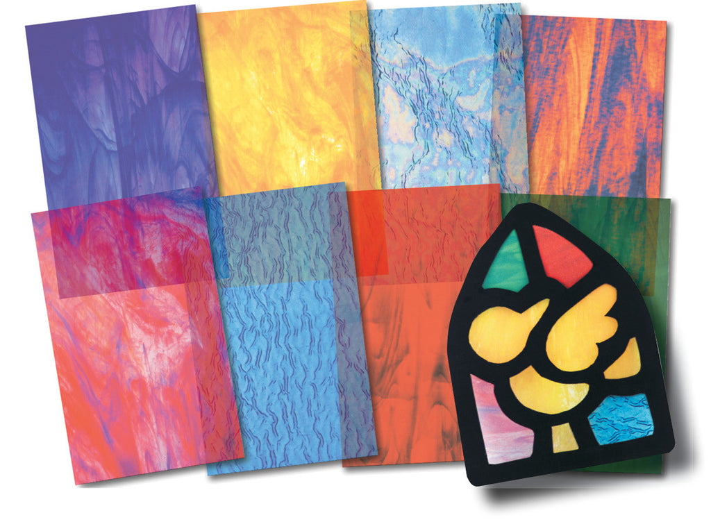 Stained Glass Craft Paper pk 24