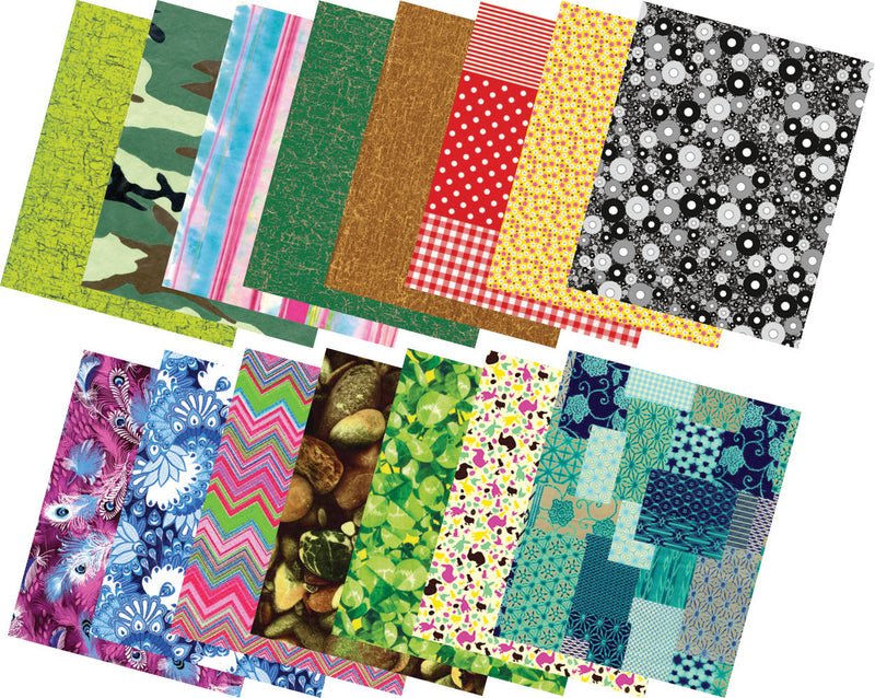 Decopatch Paper Set - Assorted Patterns pk 15