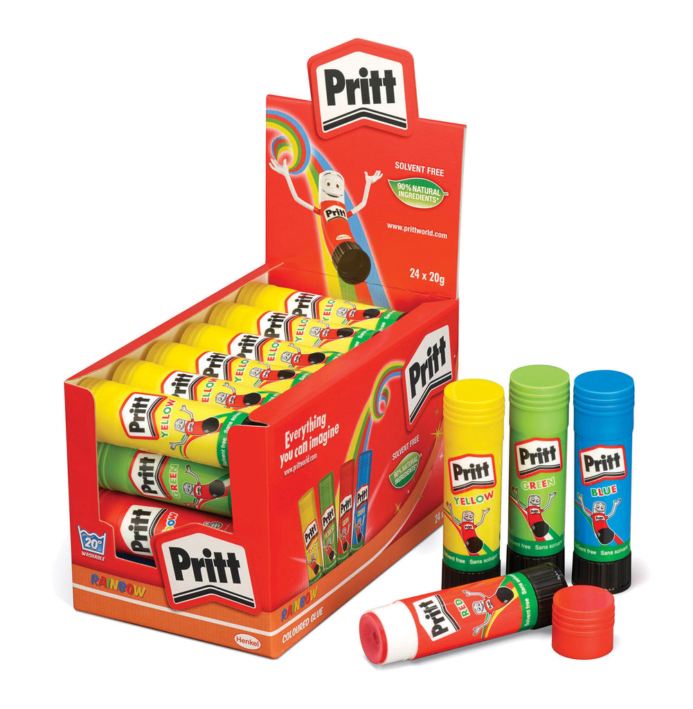 Rainbow Pritt Sticks 20g pk 24