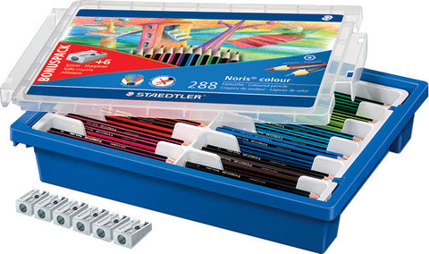 Staedtler Noris Colour Assorted (with Tray) pk 288