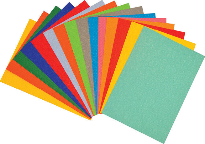 A4 Rainbow Embossed Card pk 50