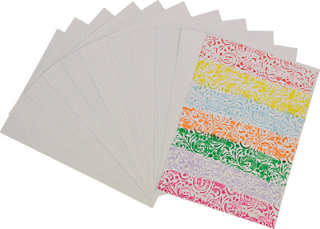 A4 White Embossed Card pk 50