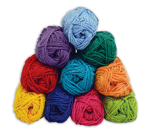 Coloured Craft Cotton pk 10