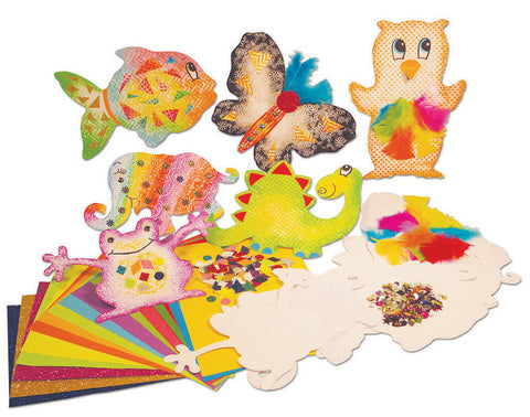 Embossed Colour & Collage Pack pk 50