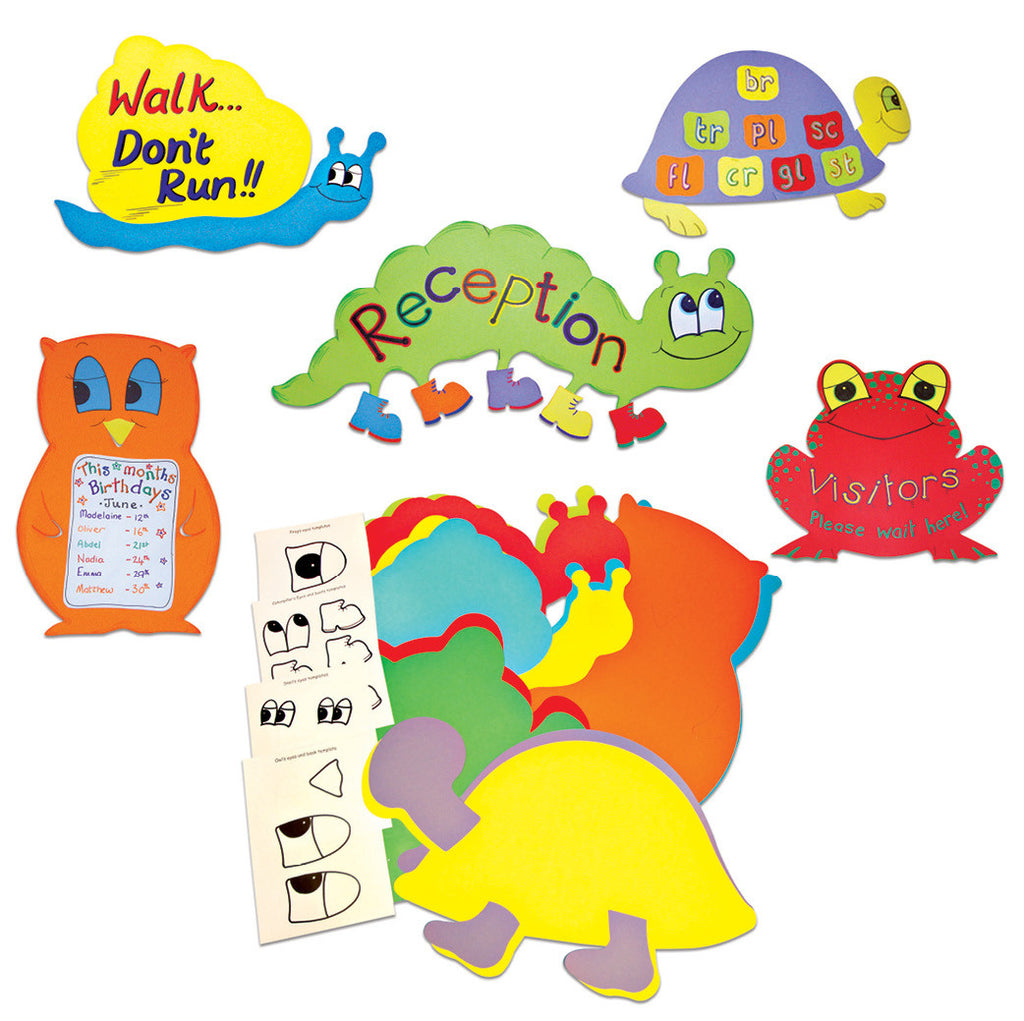 Friendly Creature Display Boards pk 10