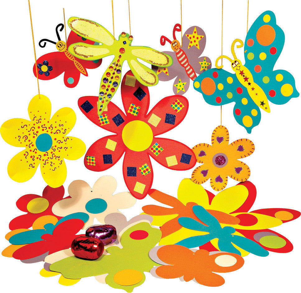 Hanging Flowers & Butterflies pk 70