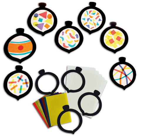Stained Glass Baubles pk 30