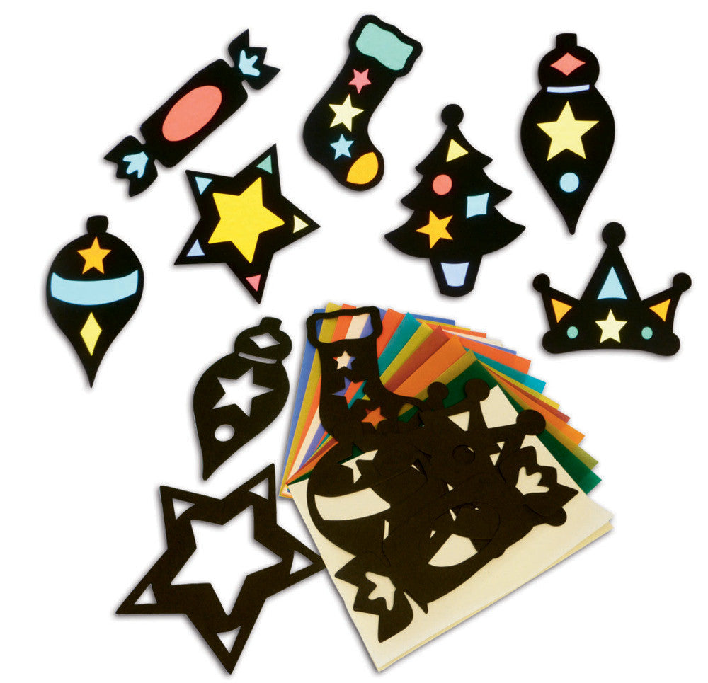 Stained Glass Festive Shapes pk 35