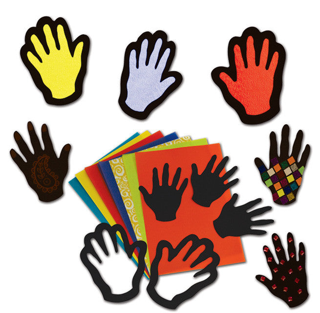 Stained Glass Hands pk 32