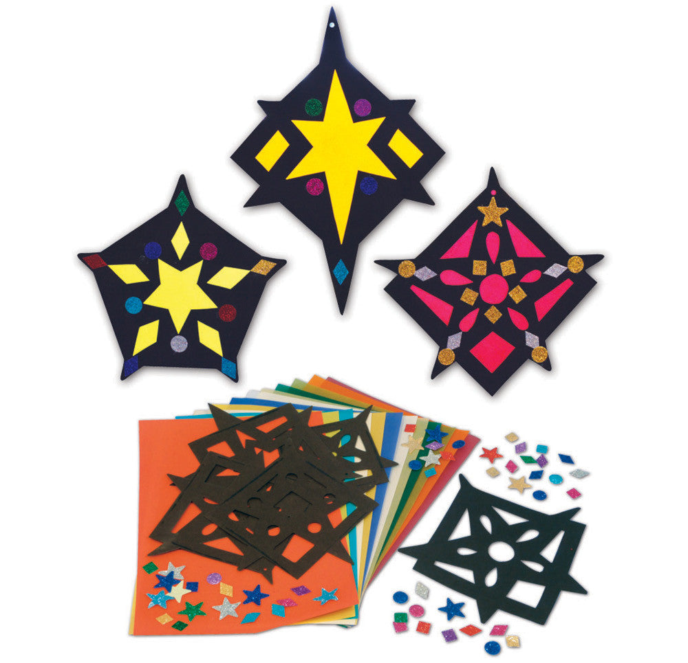 Stained Glass Stars pk 30