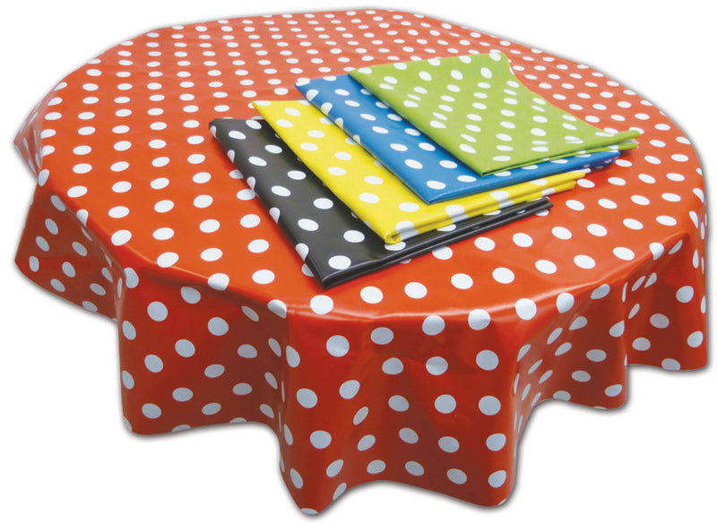 PVC Table Cover Black Spot - Circle
