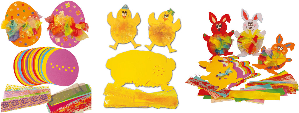 Tactile Rabbit, Chick & Egg pk 30