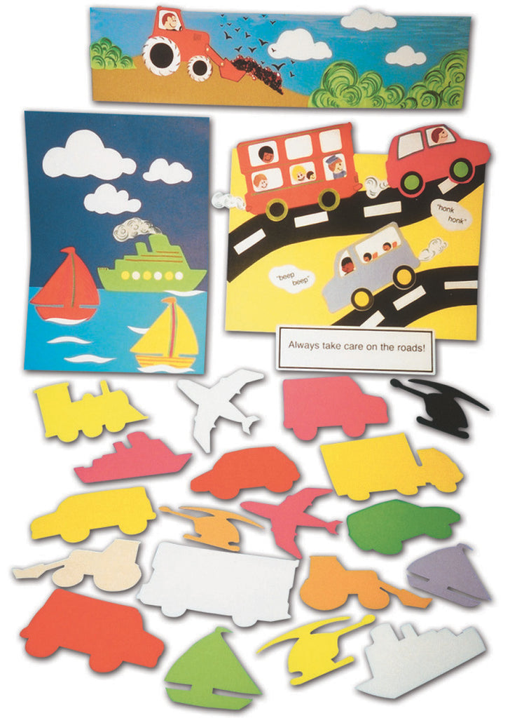 Transport Paper Shapes pk 100
