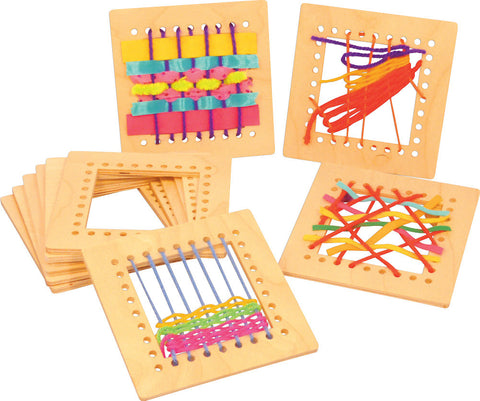Wooden Weaving Squares pk 10