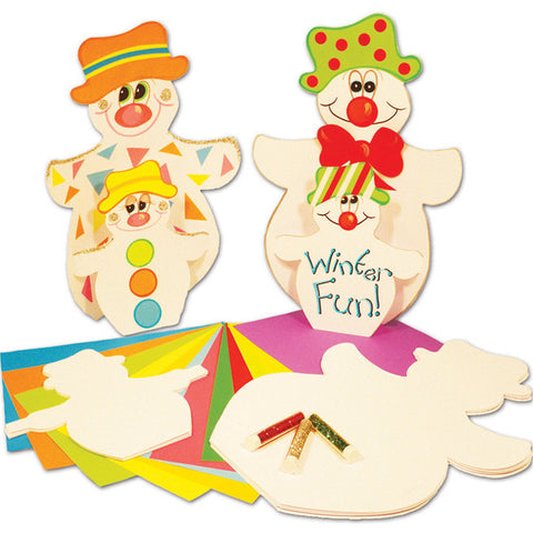 Snowman Stand-up Cards pk 30