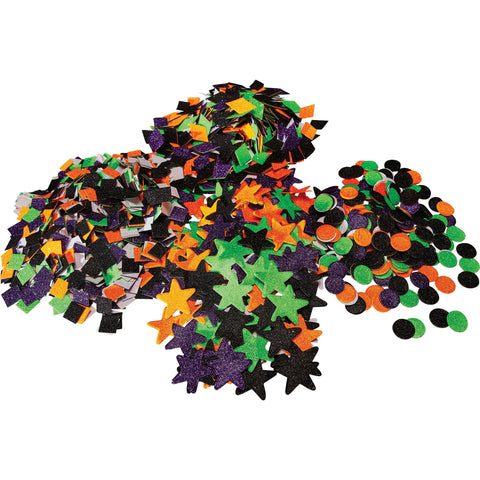 Halloween Glitter Shapes pk 3000