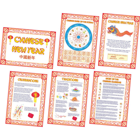 Chinese New Year Poster Set pk 6