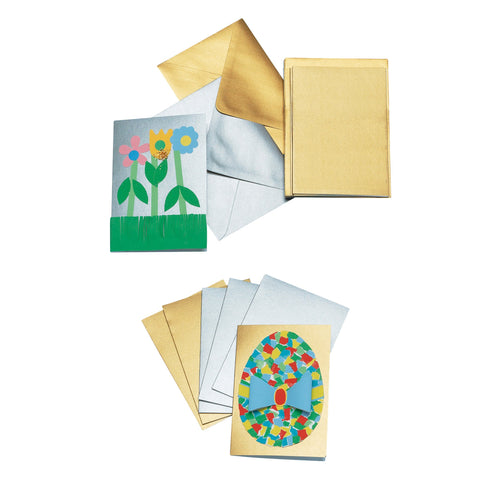 Gold & Silver Cards with Envelopes pk 30