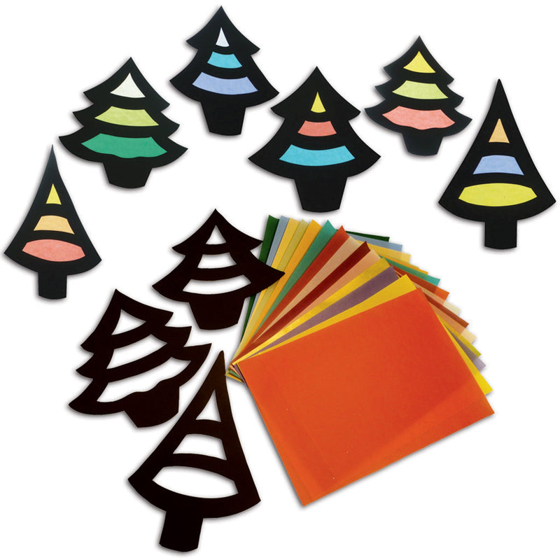 Stained Glass Trees pk 30