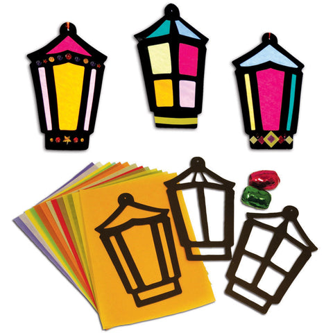 Stained Glass Lanterns pk 30
