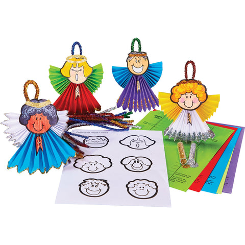 Concertina Angel Decorations pk 30