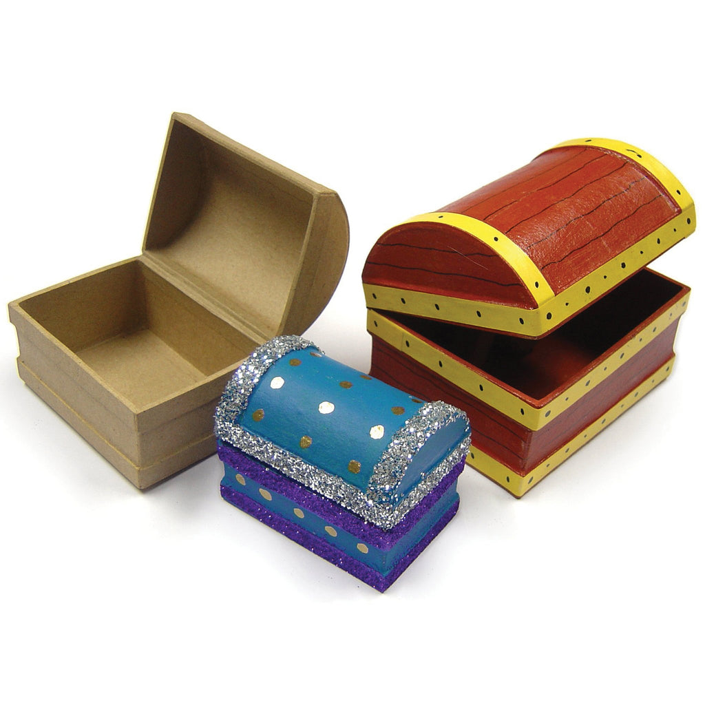 Paper Mache Treasure Chests pk 10