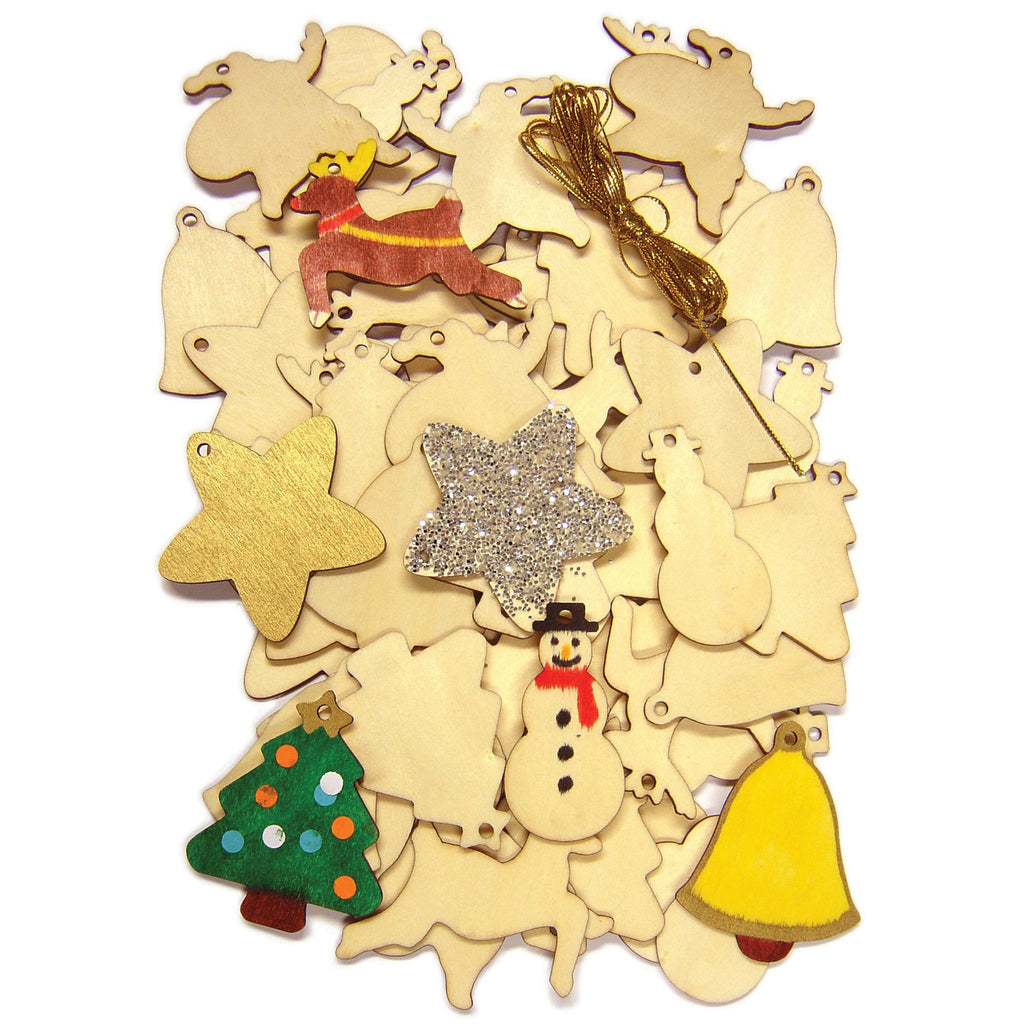 Wooden Christmas Cutouts pk 54