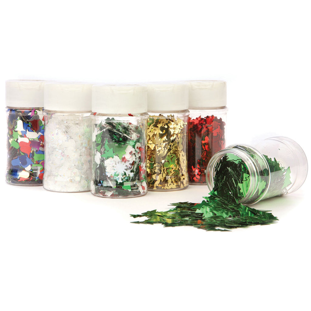 Christmas Sequin Shakers pk 6